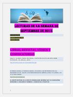 Lecturas de la Cuarta Semana de Septiembre 2015