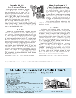 December 20, 2015 - St. John the Evangelist
