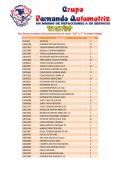 Numero de Parte Descripción Cantidad 9129341 SOPORTE 1