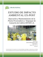 estudio de impacto ambiental ex-post
