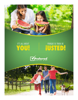 YOU! ¡USTED! - Preferred Medical Plan