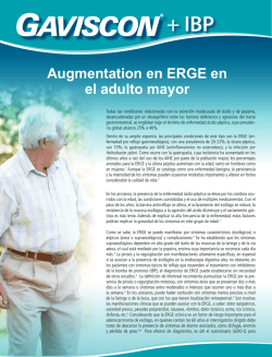 Augmentation en ERGE en el adulto mayor
