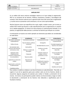 Guía Analisis PESTA - La Facultad de Ingeniería de la Universidad