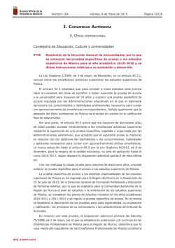 Resolución de la Dirección General de Universidades, por la que se