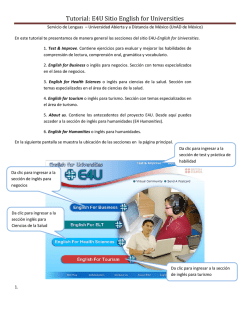 Tutorial: E4U Sitio English for Universities