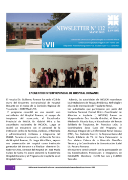 newsletter n 112 hospital rawson
