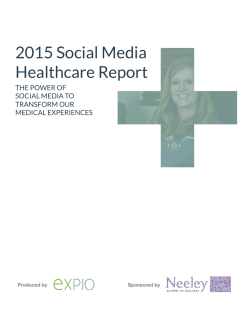 2015 Social Media Healthcare Report