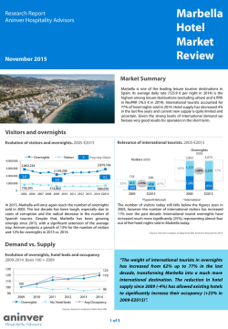 Marbella Hotel Market Review Nov 2015