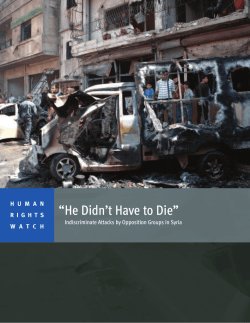 Indiscriminate Attacks by Opposition Groups in Syria