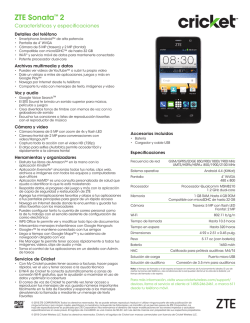 ZTE Sonata™ 2 - Cricket Wireless
