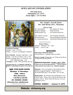 Parish Bulletin, 1/10/2016