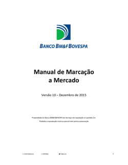 Manual de Marcação a Mercado - BANCO