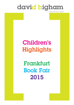 Children`s Highlights Frankfurt Book Fair 2015