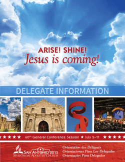 Jesus is coming! - General Conference Session 2015