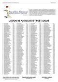 LISTADO DE POSTULADOS Y POSTULADAS