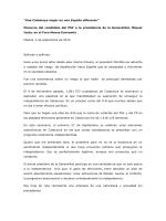 """""""Una Catalunya mejor en una España diferente"""" Discurso del"""