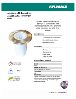 LUM LED DECO PISO 10W 120V
