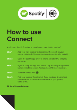 How to use Connect - Wren Sound Systems