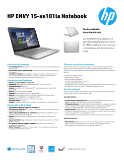 HP ENVY 15-ae101la Notebook
