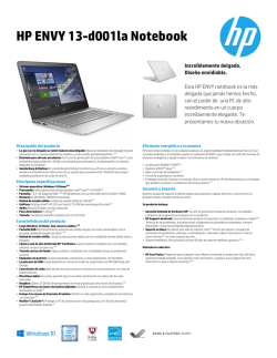 HP ENVY 13-d001la Notebook