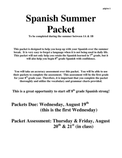 Spanish Summer Packet