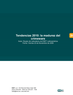Tendencias 2010: la madurez del crimeware
