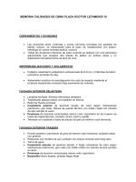 MEMORIA CALIDADES DE OBRA PLAZA DOCTOR LETAMENDI 10