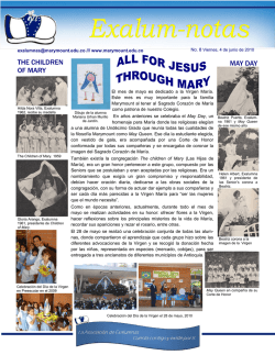 may day the children of mary - Exalumnas del Colegio Marymount