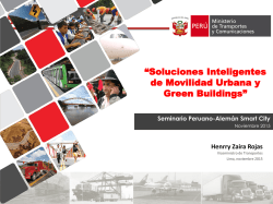 """Soluciones Inteligentes de Movilidad Urbana y Green Buildings"""
