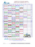 horario de actividades dirigidas forus elche a partir del 30/11/15