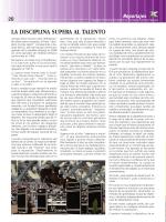 LA DISCIPLINA SUPERA AL TALENTO