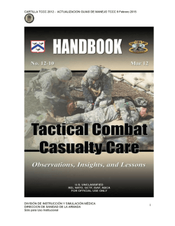 Guías de Tactical Combat Casualty Care