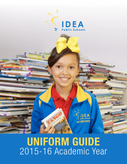 UNIFORM GUIDE