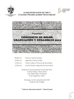 Presentan: - Colegio Peruano Aleman Beata Imelda