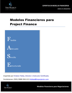 Modelos Financieros para Project Finance