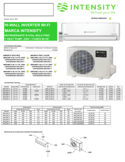Submittal Minisplit Inverter WiFi