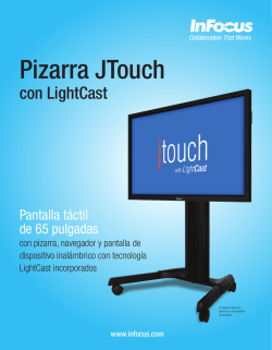InFocus JTouch with LightCast Datasheet (Latin Spanish)