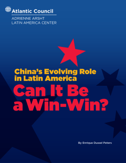 China`s Evolving Role in Latin America