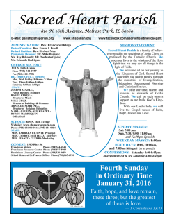 January 31, 2016 - Sacred Heart Parish