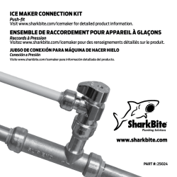 ICE MAKER CONNECTION KIT ENSEMBLE DE RACCORDEMENT
