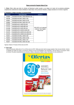 BASES LEGALES PROMOCION HUGGIES NATURAL CARE