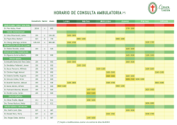 HORARIO DE CONSULTA AMBULATORIA