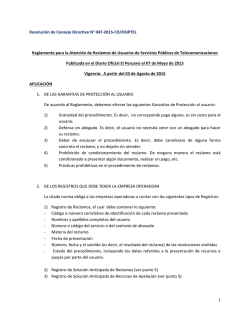 1 Resolución de Consejo Directivo N° 047-‐2015-‐CD