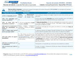 First Medical Directo Duración del contrato: 01/01/2016 – 12/31