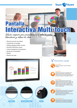 Pantalla LED Interactiva Multitouch