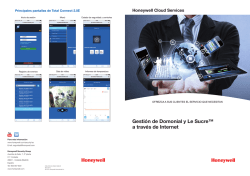 Domonial & Le Sucre - Honeywell Security