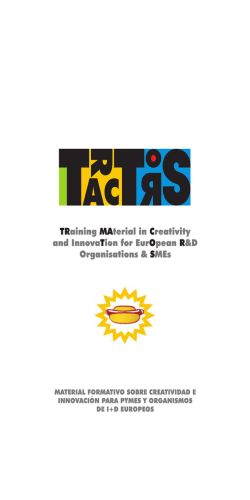 TRaining MAterial in Creativity and InnovaTion for