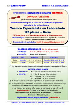 Técnico Especialista en Laboratorio