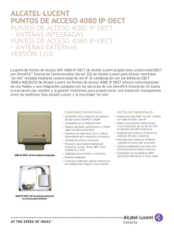 AlcAtel‑lucent Puntos de Acceso 4080 IP‑dect