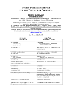 public defender service for the district of columbia legal glossary